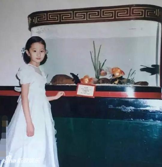 刘亦菲曝早年美国时期照片 从小美貌动人