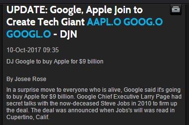 惊闻谷歌收购苹果!背后真相曝光