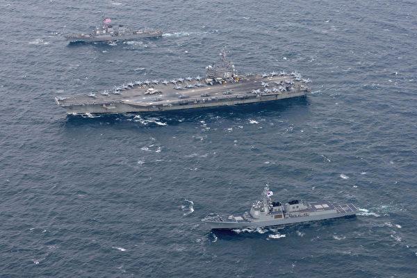 川普访韩 航母舰队和B-1B轰炸机全程保护
