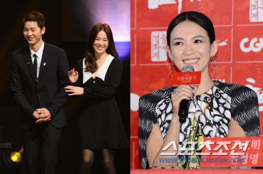 中国顶级女星访韩 出席宋慧乔宋仲基婚礼