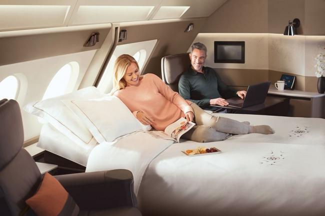 飞机上有双人床   全新客舱终于亮相