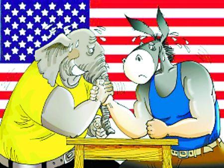 中期选举硝烟起,驴象争夺白热化