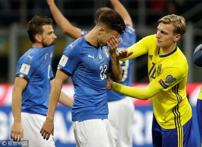 意外!意大利出局 60年首次无缘世界杯