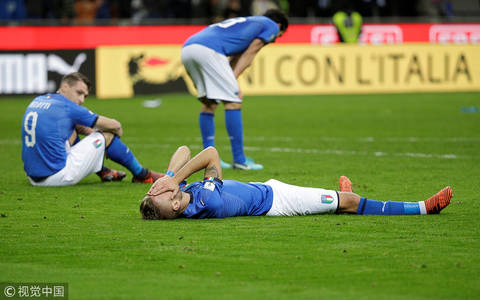 意大利主场平瑞典  60年首次无缘世界杯