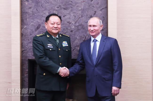 俄总统普京会见中央军委副主席张又侠