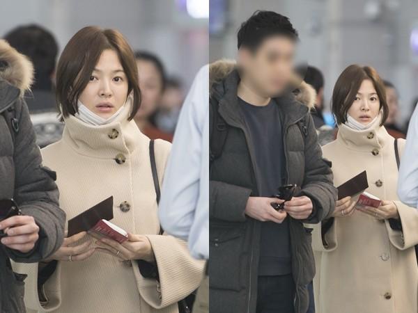 宋慧乔素颜憔悴现身机场 竟是去见习近平