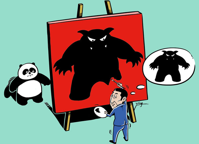 煽动中国威胁 无法掩饰美国衰退