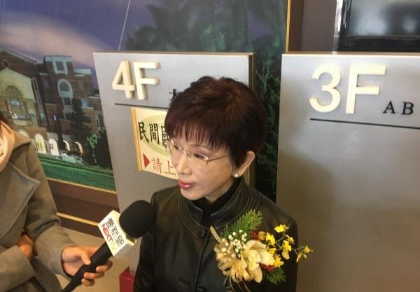 洪秀柱:台湾是中国一个地方 统一不放弃