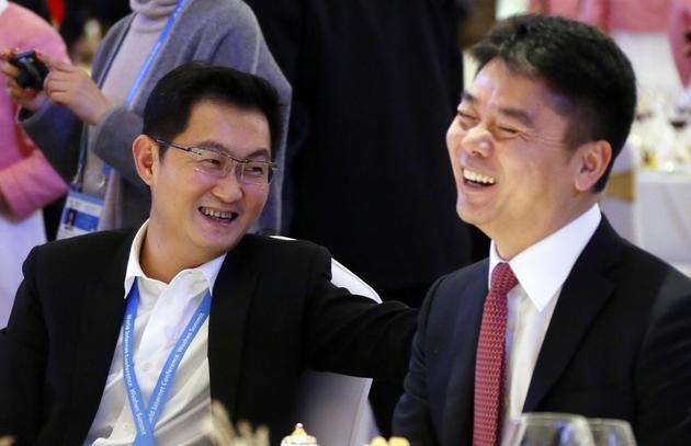 马化腾拉上刘强东   和马云抢女人的生意