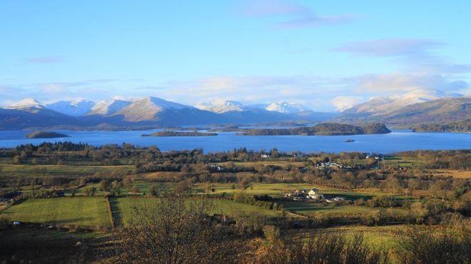 view looking towards Loch Lomond from Duncryne Hill, Gartocharn