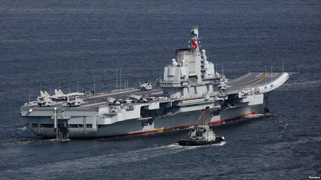 中国航母进入台湾防空识别区