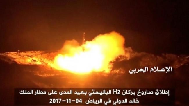 也门射导弹直插军事基地!沙特拼死拦截