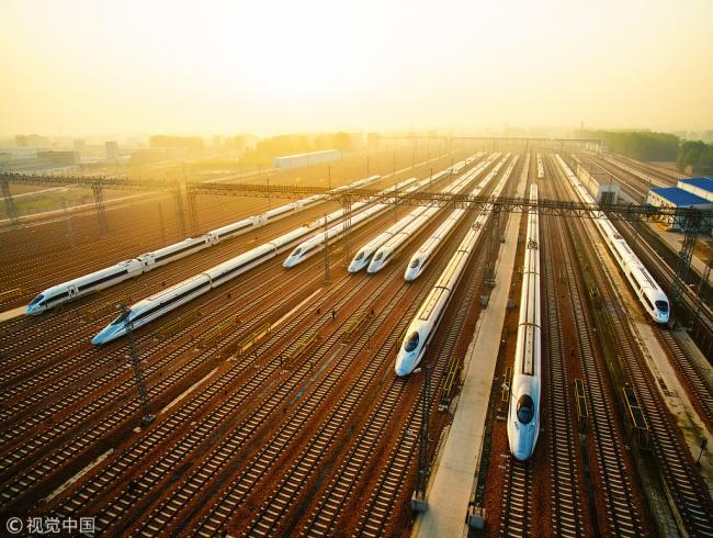 中国高铁总里程占世界总量66.3%