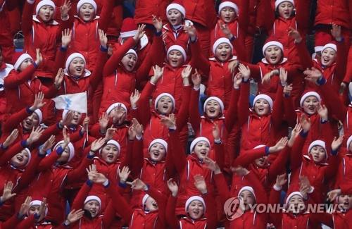 朝鲜体育代表团和拉拉队26日回国