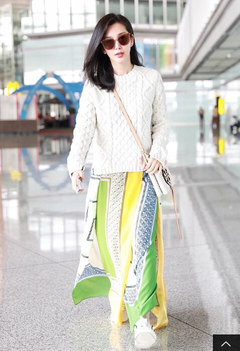 李冰冰穿私服裙子太美 网友却认成刘晓庆