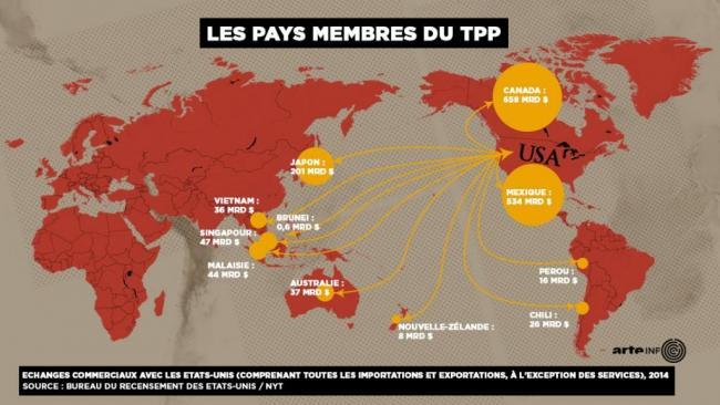 美国不玩后 11国TPP协议今天正式签署