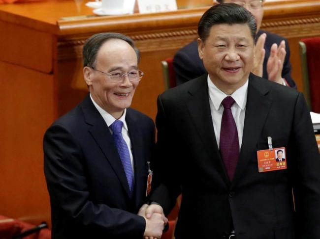 王岐山未与前任副主席李源潮握手