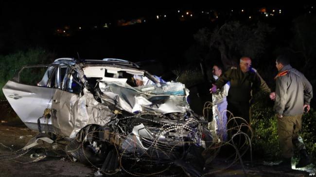 一巴勒斯坦人驾车撞死撞伤4名以色列军人
