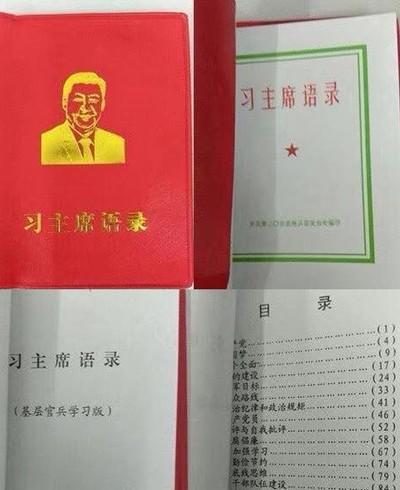 """解放军炮兵团编印""""习近平语录"""""""