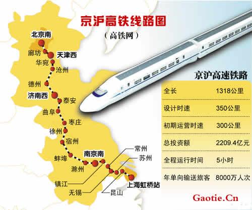 4月10日起京沪高铁再提速 最快4小时18分