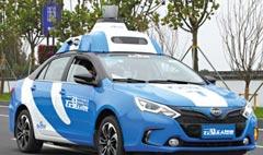 中国百度的自动驾驶汽车  一马当先