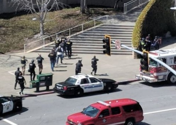 加州YouTube总部枪击1死4伤!女枪手吞枪