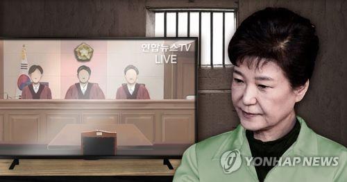 朴槿惠没法看直播 晚上才能知道判几年