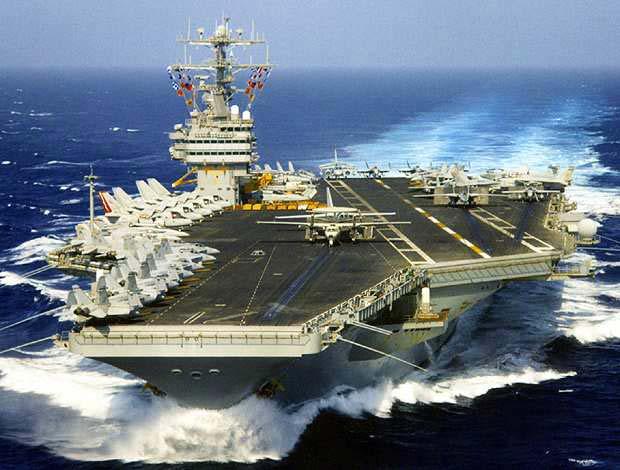 中国演习刚落幕 美军航母打击群巡弋南海