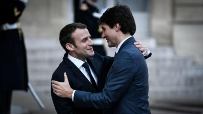 加拿大总理特鲁多现身法国