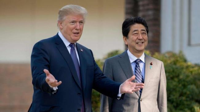 川普告诉安倍 已和朝鲜高层直接对话