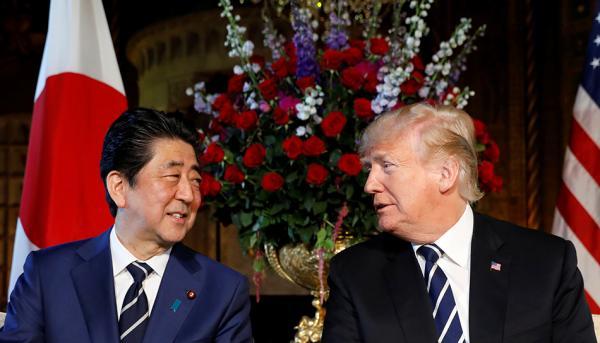 川普会见安倍晋三 称已与朝鲜高级别对话