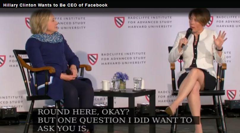当不成美国总统 希拉里想当Facebook CEO