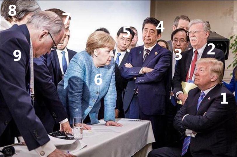 G7峰会火爆网络的照片透露的微妙时刻