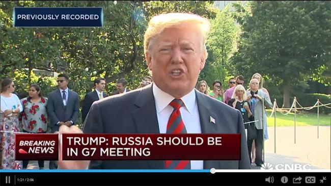川普激动表态:G7应该把俄罗斯请回来