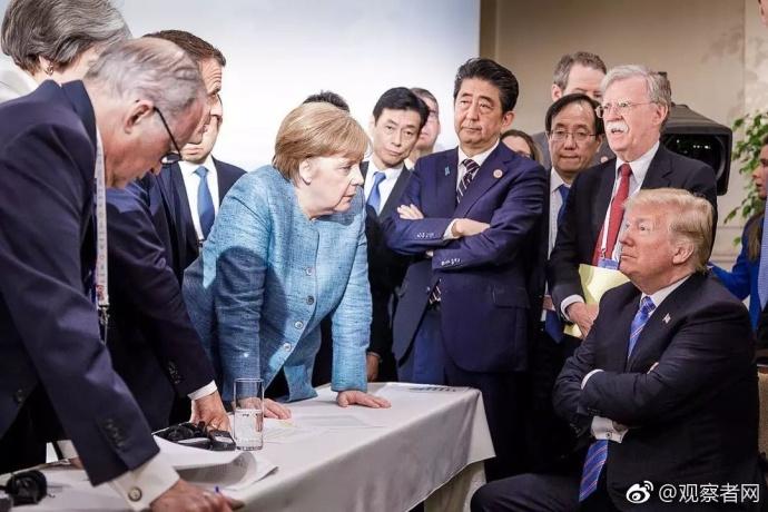G7峰会被6国围攻照片火了 川普还原真相