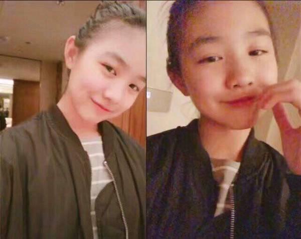 汪峰女儿13岁酷爱自拍 容貌不输章子怡