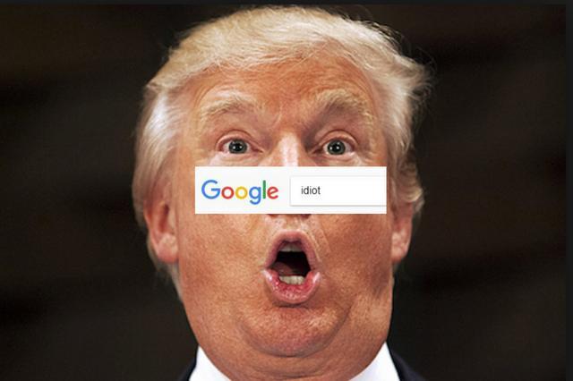 """搜索""""白痴""""全搜出川普 谷歌被玩坏了"""