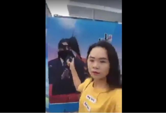 上海泼墨习近平画像的湖南女孩董瑶琼 (资料照片)