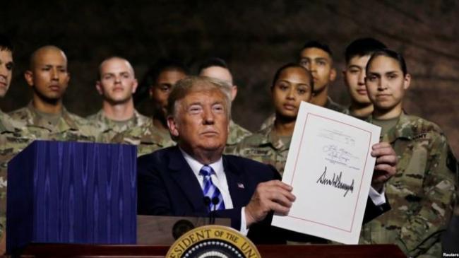 川普签国防授权法案 脚踩中国红线台湾