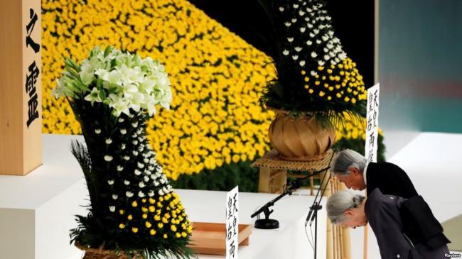 """日本天皇在""""8・15""""战败日表示深刻反省"""
