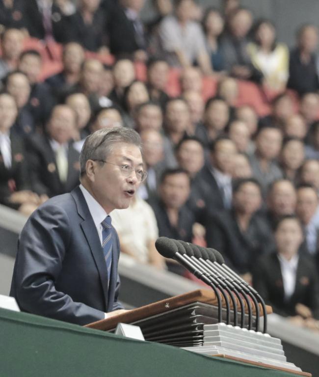 韩总统首对朝民众讲话 文在寅说了7分钟