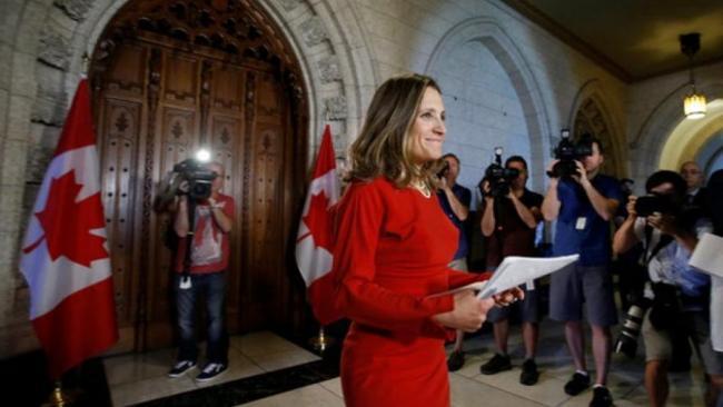 第一次    全球女外长齐聚加拿大开会