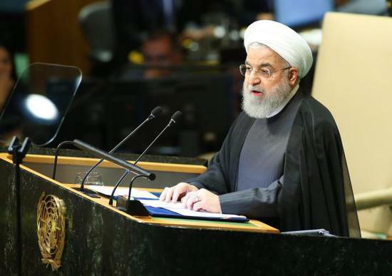 伊朗领袖联大现场对怂川普