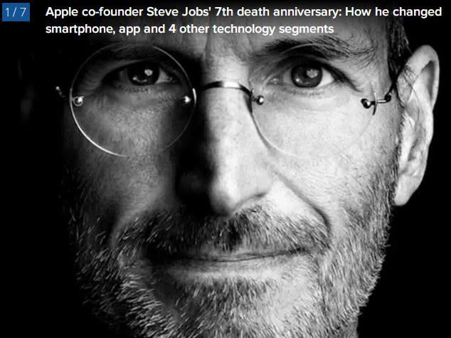 乔布斯去世7周年 他变革的六大科技领域