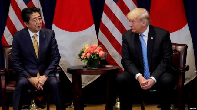 川普赞扬安倍贸易合作给北京施压