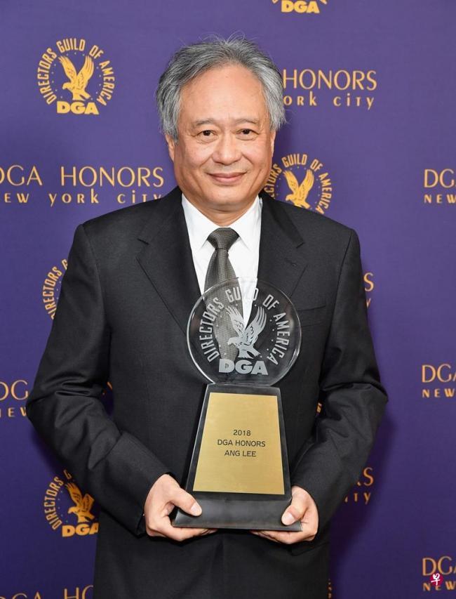 华人首位 李安获美导演协会终身成就奖