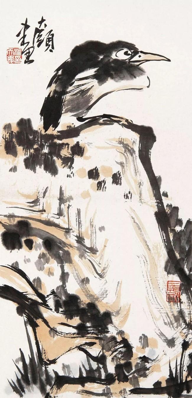 潘天寿 鸟石图.jpeg
