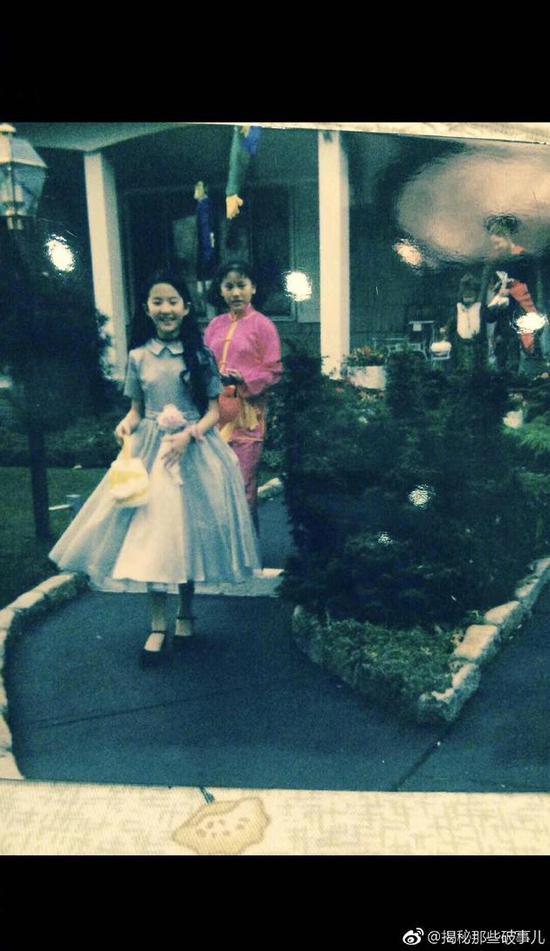 刘亦菲童年万圣节照曝光 真是一路仙到大