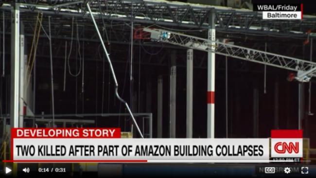 """亚马逊大楼倒塌""""像到处都是炸弹"""""""
