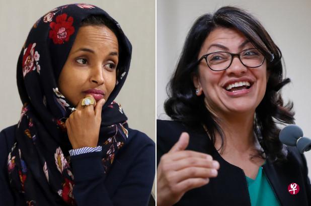 美国首次迎来两名穆斯林女议员